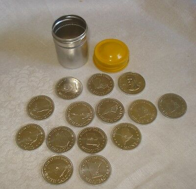 Lot 13 SHELL'S STATE OF THE UNION COIN GAME TOKENS and 1 PRESIDENT