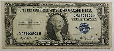 1935 and 1957 One $1 Dollar Silver Certificate Note GOOD-VF Old US Currency