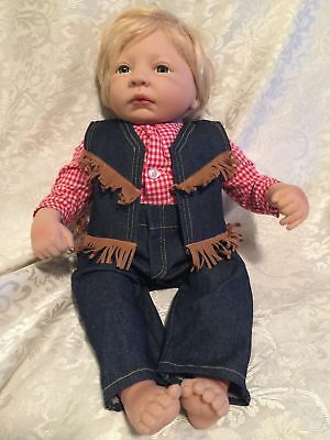 """Jen Printy Originals LIL COWBOY Numbered Molded Lifelike 19"""" Collectible PG Doll"""