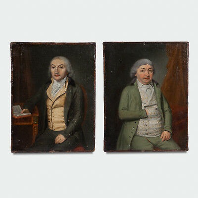 Two Northern European 18th Century Oil on Canvas Portraits