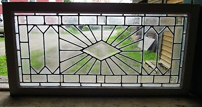 Victorian Leaded Clear Stained Glass Window W Bevels