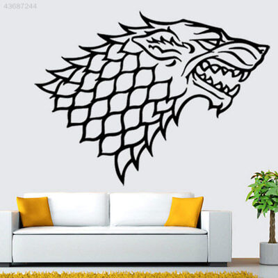 House STARK Game of Thrones Decal Window Wall Wolf Sticker Bedroom Black