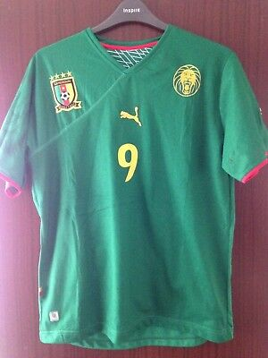 0e37b0f86ae Cameroon National Football Home Green Shirt 2010-2011 Puma Size XXL No 9 Eto