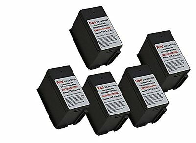 5 X Pitney Bowes 793-5 Red Ink Cartridge for P700, DM100, DM100i & DM200L Meters