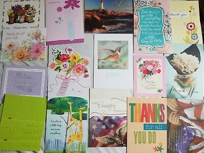 Thank You Card Lot 18 new assorted mixed greeting cards
