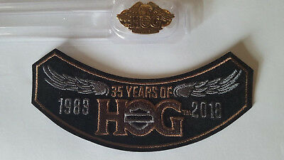 2018 35 Years of HOG Harley Hog Patch with Eagle Pin Brand New