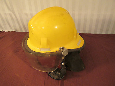 Vintage Cairns  Brother 770 Fire Fighter Helmet 1969 Flip Shield