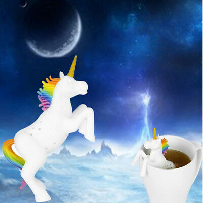 Unicorn Tea Strainer Herbal Spice Infuser Filter Diffuser Kitchen Silicone Tool