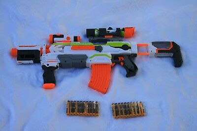 Nerf N Strike Modulus ECS-10 (2) INC 20 Excellent Condition *20 BRAND NEW DARTS*