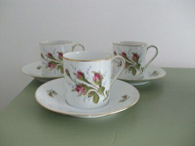 Rosenthal - 3 Expresso Cups & Saucers.