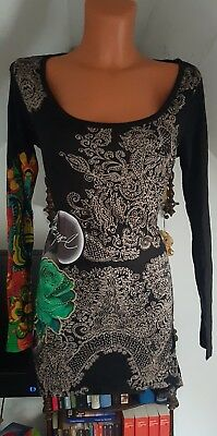 DESIGUAL♥TUNIKA KLEID SEXY DREAM♥GR.L/XL 40/42/44 JEANS*HIPPIE*ROCK*SOMMER*w.NEU