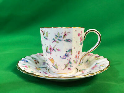 Royal Worcester Lady Margaret Teacup And Saucer - Free Shipping