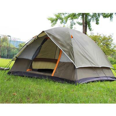 4 Person Double Layer Waterproof Tents For Outdoor Fishing Camping Travel Beach
