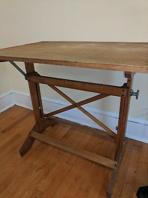 vintage hamilton drafting table industrial loft steampunk studio