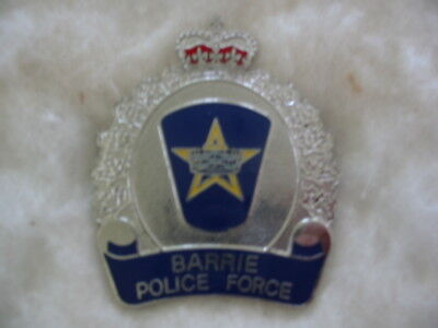 Barrie Police Force, Ontario, Canada. Rare Vintage Hat Badge