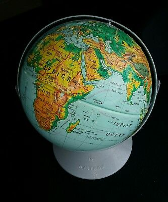 """Nystrom 1994 X Large Raised Topography Globe 50"""" Around in ABOVE GOOD CONDITION"""