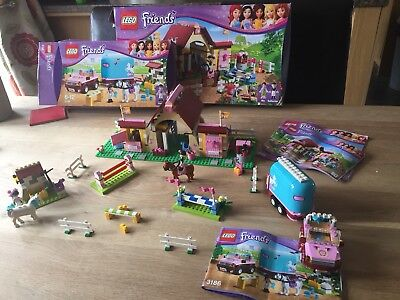 Lego Friends Stables And Horse Trailer With Box And Instructions