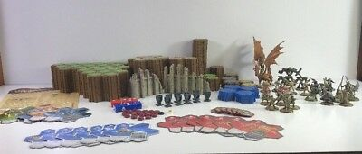Heroscape Lot Of 335 hex 27 Figures Tiles Ruins Dice Rise Of The Valkyrie