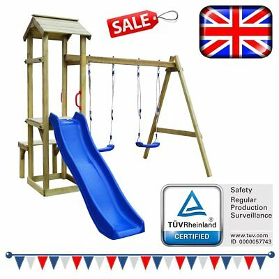 WOODEN CHILDRENS PLAYHOUSE outdoor fun,climbing frame ,colourful ...