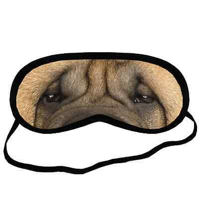 Adorable SHAR PEI EYES Dog Puppy Lovers Small-Med Size Black SLEEP MASK Gift