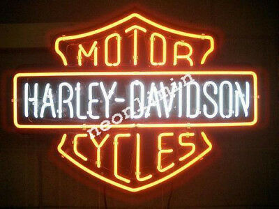 "24"" inches HUGE Harley Davidson HD Bike Motorcycle Real NEON SIGN Beer Bar Light"