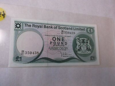 Scotland, Royal Bank of One Pound UNC Paper Money
