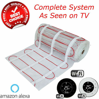 Electric Underfloor Heating mat kit 150w per m2 All Sizes in this Listing (BDW)