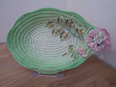 Shorter & Son retro vintage staffordshire collectable green floral dish/bowl