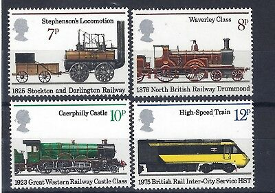 GB Stamps SG 984-987 1975 150th Anniv of Public Railways. MNH SET Multicoloured.