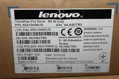 Lenovo ThinkPad Pro Dock 90W 40A10090US