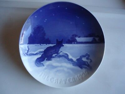 B&G Bing & Grondahl Christmas collectors plate 1929  Fox Farm