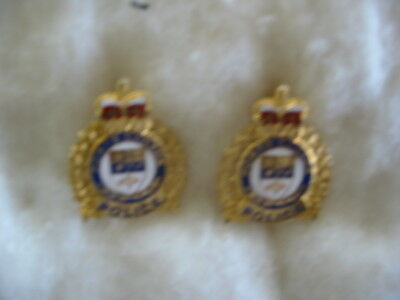 Ports Canada Police, Canada. Rare Vintage Obsolete ( 2 ) Collar Badges