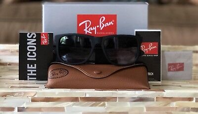 Ray-Ban Justin Sunglasses RB4165 601/8G Matte Black/Grey Gradient Lens 54mm!!!