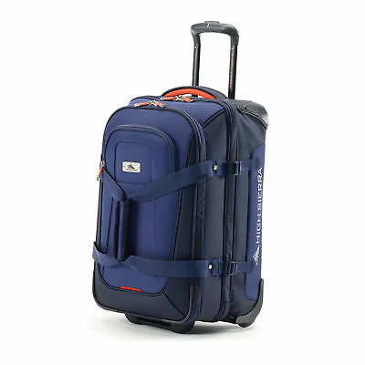 High Sierra AT6 DLX Carry-On Wheeled Duffle Upright True Navy/Red Line