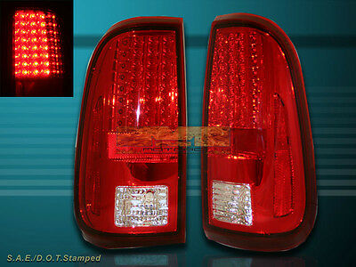 2008-2010 20016 FORD F250 F350 F450 SUPER DUTY RED//CLEAR LED TAIL LIGHTS 2009