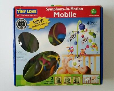 TINY LOVE Symphony-in-Motion Musical Mobile 29020 ~ Mozart - Beethoven - Bach