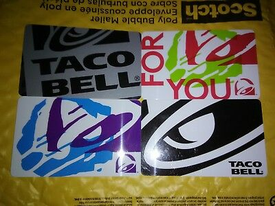 Collectible Gift Cards from Taco Bell lot of 4