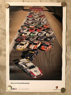 2011 Porsche Rennsport Reunion IV Showroom Advertising Poster RARE!! Awesome