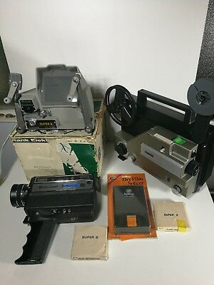 Super 8 Bundle Projector Camera Editor Films Bell Howell Rank Electra Cinerex