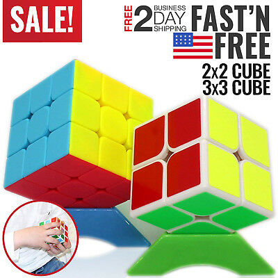 Speed Cube Puzzle 3x3x3 Rubix Brain Teaser Game Logic for Kids Adults Toy Twist