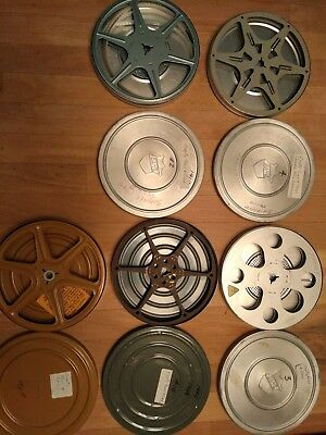 Lot of 5 Vintage 8mm Movie Film Reels and canisters