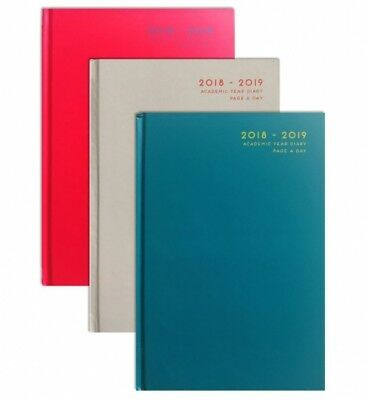 2018-2019 Academic Diaries A5 Hardback Page A Day Academic Diaries