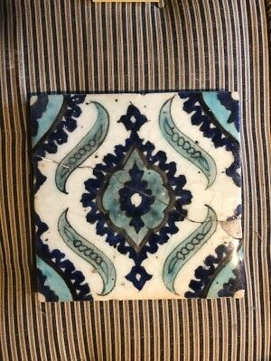 Antique Islamic Tile 118th Century Lockwood De Forest Collection