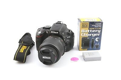 Nikon D5100 (16.2 MP) Camera with 18-55mm AFS-VR Lens - NICE!