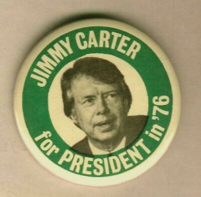 Jimmy Carter For President in' 76 Campaign Pinback Button