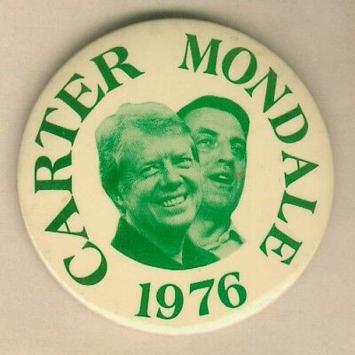Carter Mondale For President 1976 Campaign Pinback Button