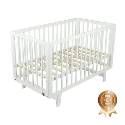 Childcare Urbane Wooden Timber Baby Cot White