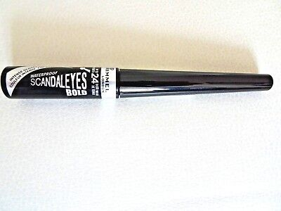 Rimmel Scandaleyes BOLD Liquid Eyeliner WATERPROOF BLACK Intense Glossy