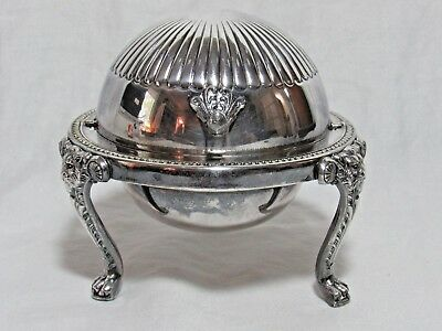 F.B. Rogers 1883 Silverplate Dome Butter Caviar Dish Vintage Silver Plate