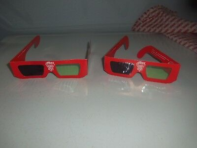 Lot of 2 Vintage Coca Cola 3-D Glasses